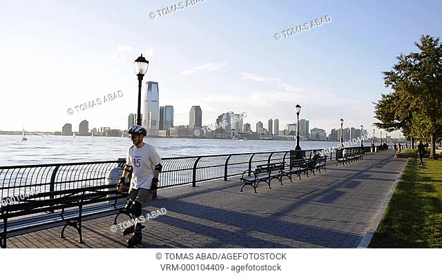 View of Jersey City, New Jersey, from Battery Park, Manhattan, Downtown, New York City