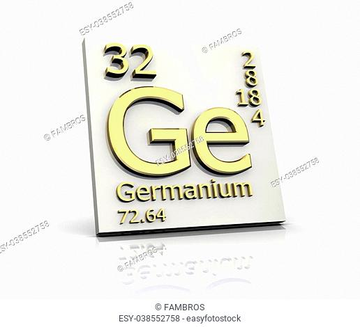 Germanium form Periodic Table of Elements - 3d made