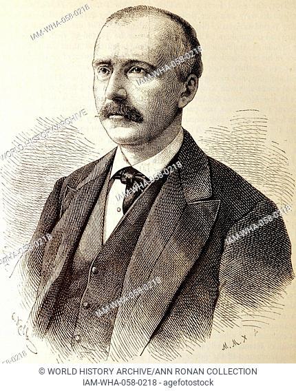 Portrait of Dr. Heinrich Schliemann (1822-1890) German businessman and a pioneer of field archaeology. Dated 1880