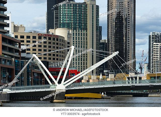 The Seafarers Bridge, a modern footbridge acorss the Yarra River in Melbourne, Australia