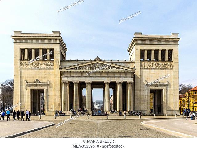 Propylaea at the Königsplatz, Maxvorstadt, Munich, Bavaria, Germany, Europe