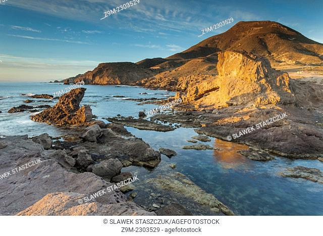 Morning at Playa del Arco, Almeria, Andalusia, Spain