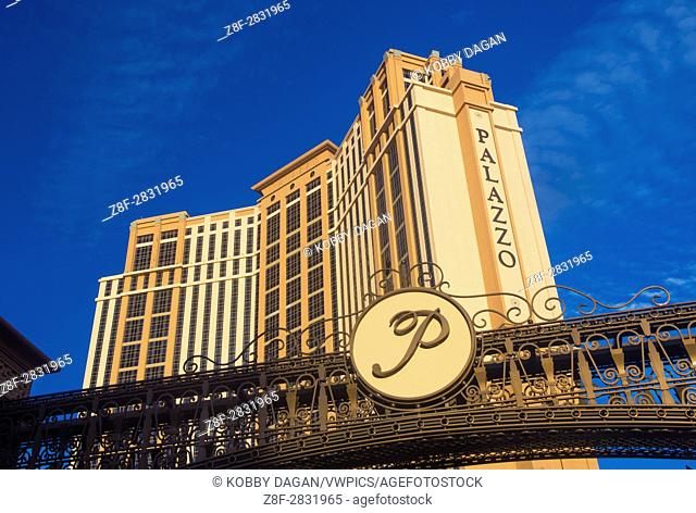 The Palazzo hotel and Casino in Las Vegas. Palazzo hotel opened in 2008 and it is the tallest completed building in Las Vegas
