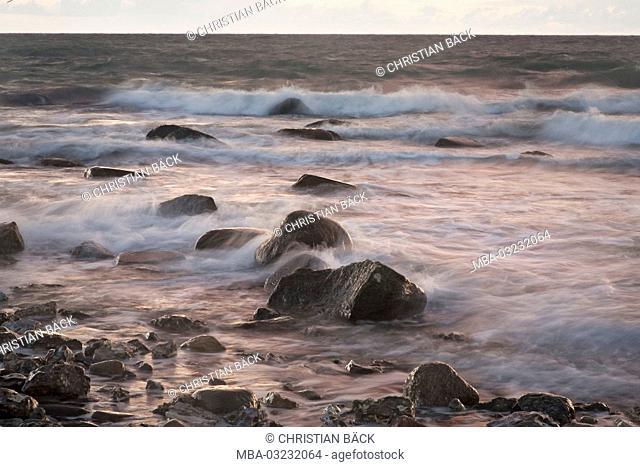 Stones on the Baltic beach, island Fehmarn, Schleswig - Holstein, North Germany, Germany