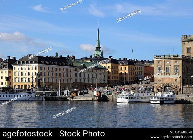Sweden, Stockholm, Sweden, Stockholms slott (castle), Slottsbaken