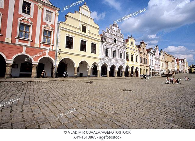 The South Bohemian historic town of Telc is on the list of UNESCO's World Heritage sites