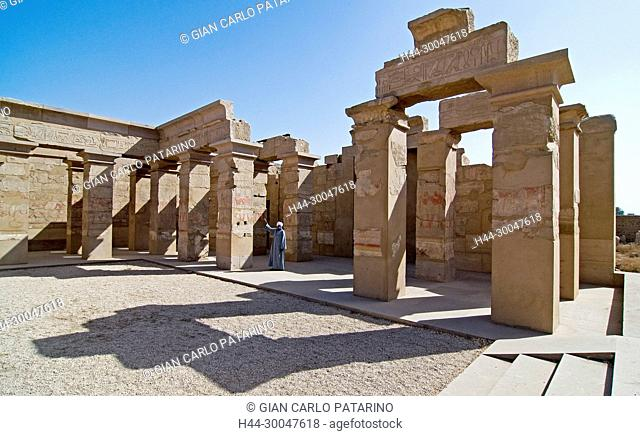 Luxor, Karnak, Egypt.Temple of Karnak sacred to god Amon: a little hypostyle hall in the Open-air Museum