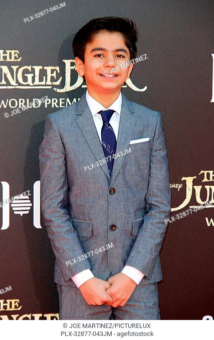 Neel Sethi at the World Premiere of Disney's The Jungle Book held at El Capitan Theater in Hollywood, CA, April 4, 2016. Photo by Joe Martinez / PictureLux