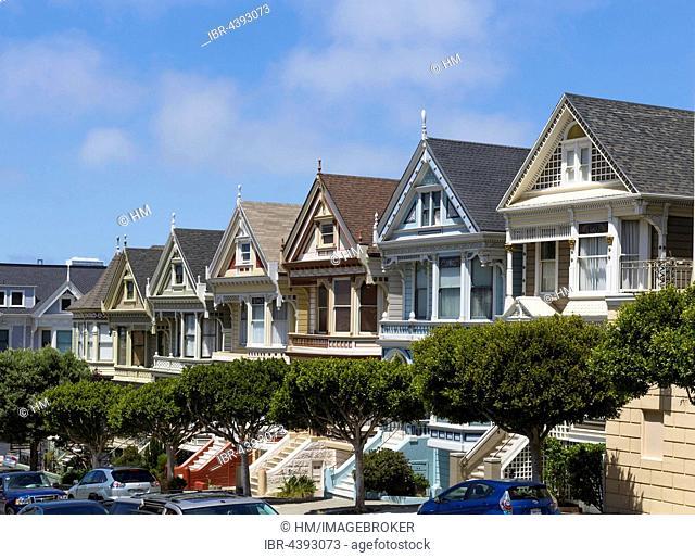 Painted Ladies, colorful houses, Victorian architecture, Alamo Square, San Francisco, California, USA