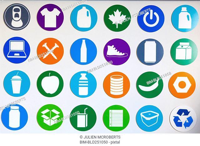 Symbols on wall