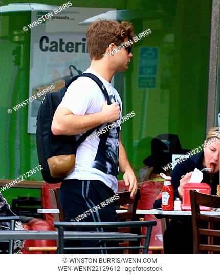 Garrett Clayton and Jade Moser have lunch at Crave Café in Studio City Featuring: Garrett Clayton Where: Los Angeles, California