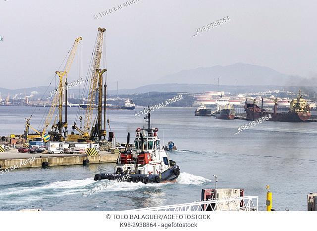 Cargo containers, Port of Bahía de Algeciras, Andalucia, Spain