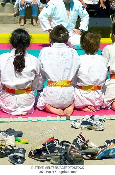 Kids at a judo match