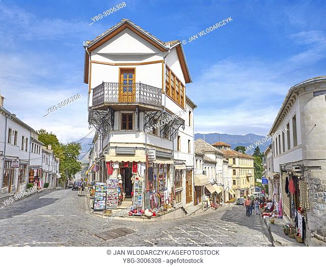 Old town in Gjirokaster, UNESCO World Heritage Site, Albania