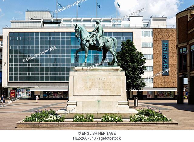 Lady Godiva statue, Broadgate, Coventry, West Midlands, 2014. Artist: Steven Baker