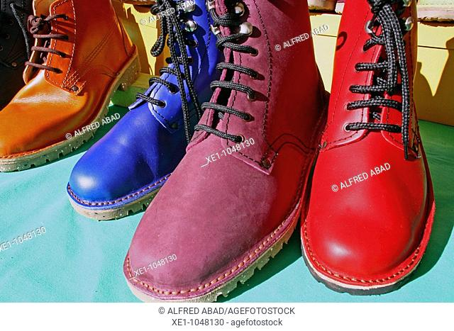handmake colored shoes, boots