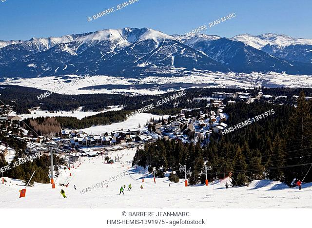 France, Pyrenees Orientales, ski resort of Font Romeu Pyrenees 2000, Pyrenees 2000