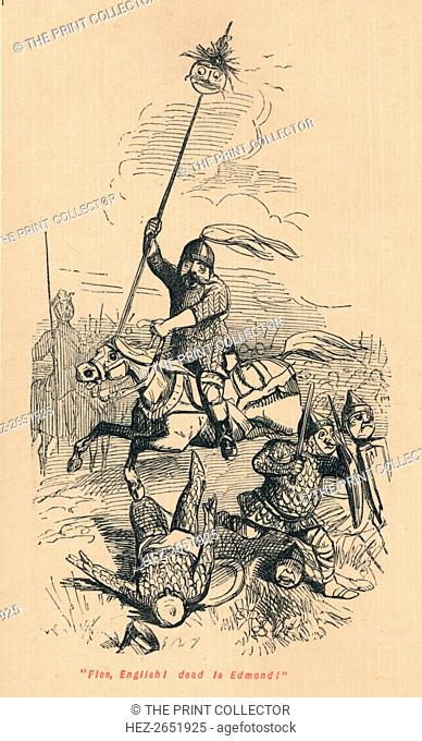 Flee, English! Dead is Edmond!', c1860, (c1860). During one of the many battles between the King of England Edmund II, known as Edmund Ironside and Danish king...