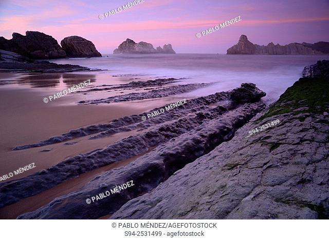 Cerrias beach of Liencres, Cantabria, Spain