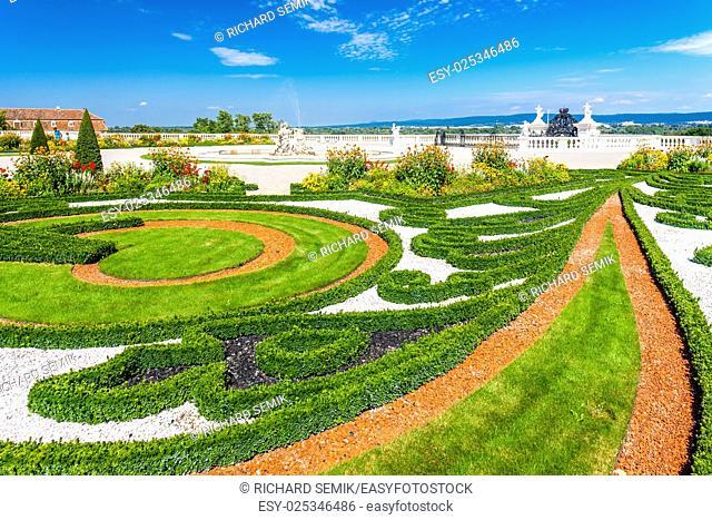 garden of Hof Palace, Lower Austria, Austria