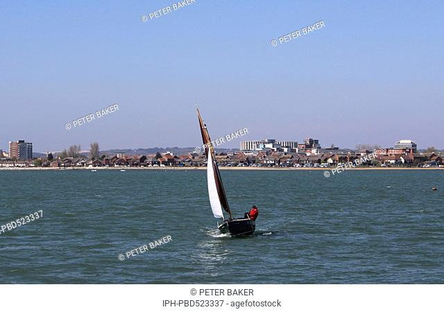 England Dorset Poole Sailing in Poole Harbour Peter Baker