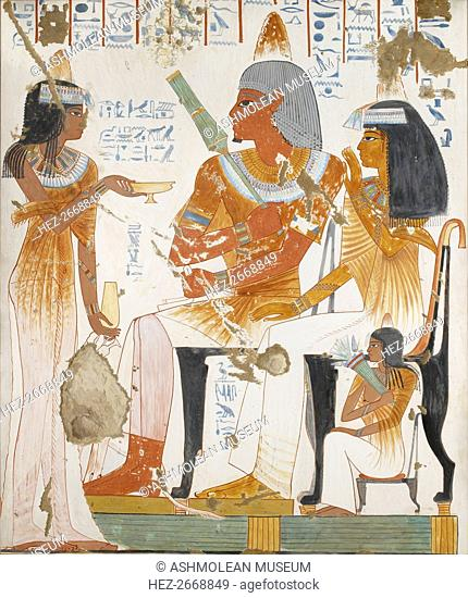 Copy of wall painting, private tomb 181 of Nebamun and Ipuky, Thebes, 20th century. Artist: Anna (Nina) Macpherson Davies