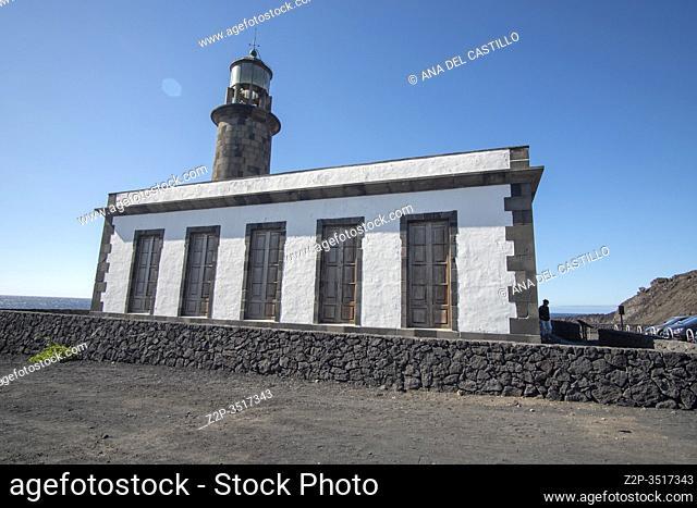 La Palma, Canary Islands Spain- Lighthouse and Salinas de Fuencaliente