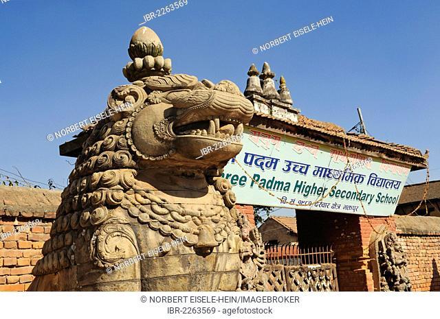 Shree Padma Higher Secondary School, Bhaktapur, also known as Bhadgaon, Kathmandu Valley, Nepal, Asia