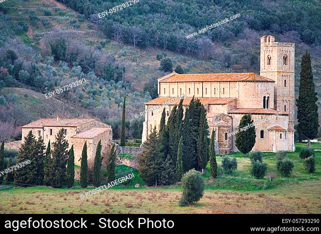 Abbey of Sant'Antimo in Tuscany Italy