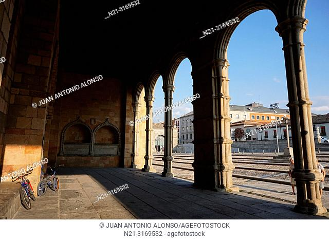 San Vicente Basilica. Outside Arches. Avila, Community of Castilla-León, Spain, Europe