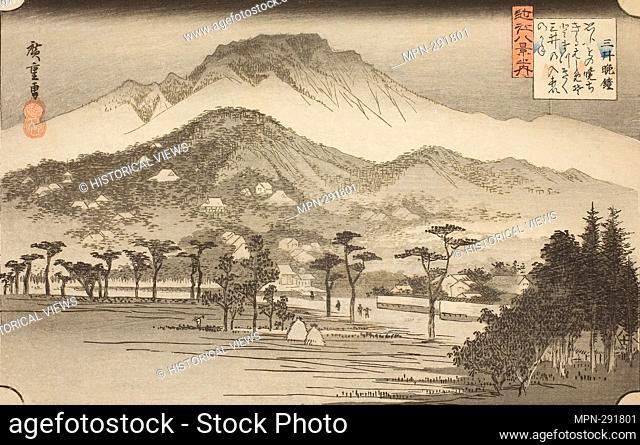 Author: Utagawa Hiroshige. The Evening Bell at Miidera (Mii no bansho), from the series 'Eight Views in Omi Province (Omi hakkei no uchi)' - 1837/38 - Utagawa...