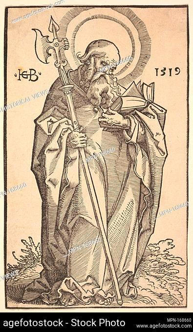 St. Matthew from Christ and the Apostles. Artist: Hans Baldung (called Hans Baldung Grien) (German, Schwäbisch Gmünd (?) 1484/85-1545 Strasbourg (Strassburg));...