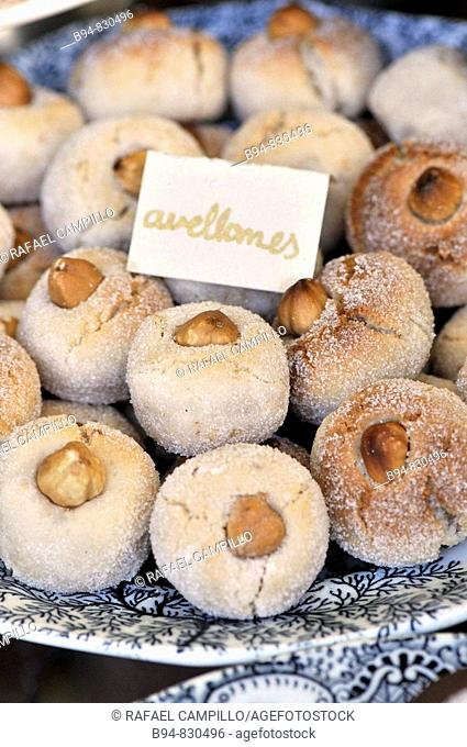 'Panellets' traditional dessert of the All Saints holiday in Catalonia, Spain