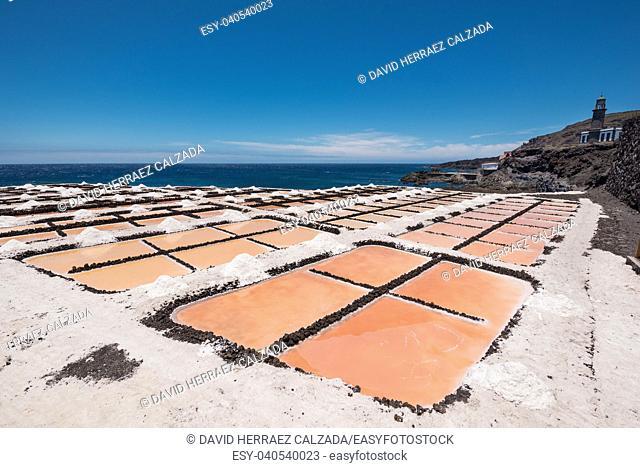 Salt flats in Fuencaliente, La Palma, Canary islands, Spain