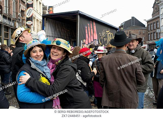 The carnival of Binche is an event that takes place each year in the Belgian town of Binche during the Sunday, Monday, and Tuesday preceding Ash Wednesday