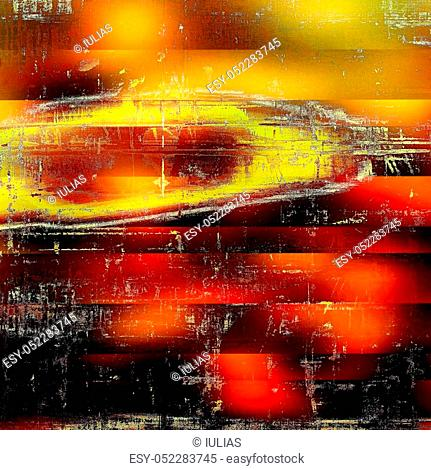 Highly detailed grunge background or scratched vintage texture. With different color patterns: yellow (beige); brown; red (orange); black; pink