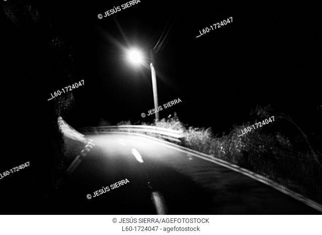 Light at night, El Hierro, Canary Islands, Spain