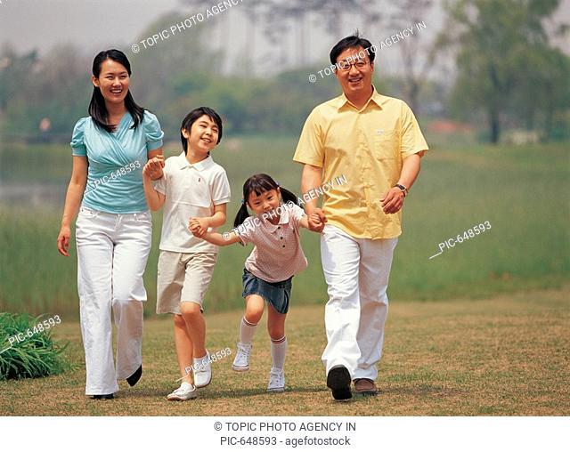 Korean Family in the Park