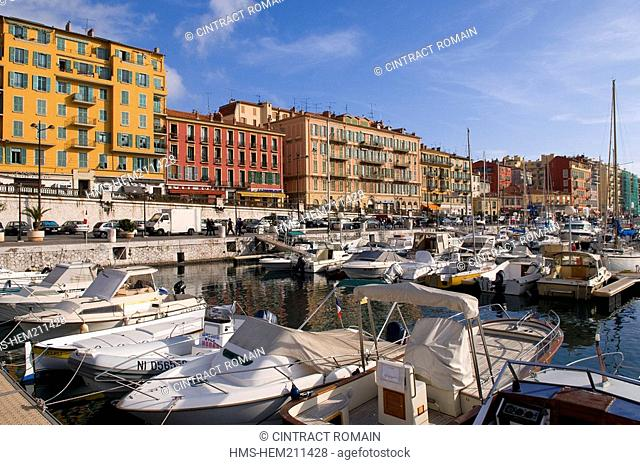 France, Alpes Maritimes, Nice, the Lympia harbour
