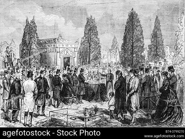 funeral of m. baron james de rothschild, the illustrious universe, publisher michel levy 1868