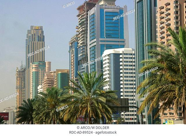 Office buildings at Sheikh Zayed Road- Dubai United Arab Emirates