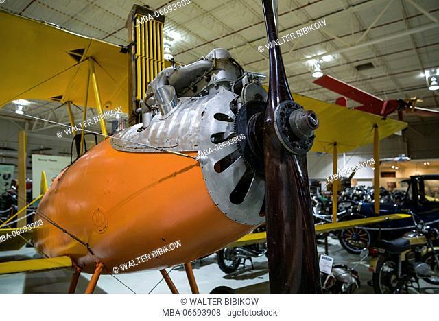 USA, New York, Finger Lakes Region, Hammondsport, Glenn H, Curtiss Museum, dedicated to early US aviation pioneer and resident Glenn Curtiss, Curtiss Oriole