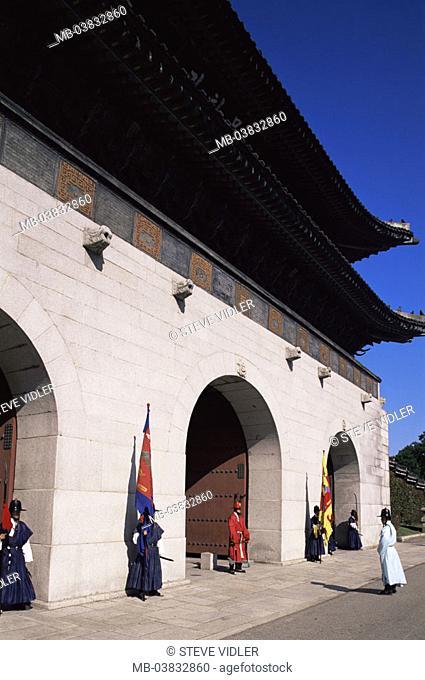 Korea, Seoul, Kwanghwamun Gate, Watches, , Asia, Eastern Asia, South Korea, capital, Kyongbokkung Palace, Gyeongbokgung Palace, palace, entrance, main gate