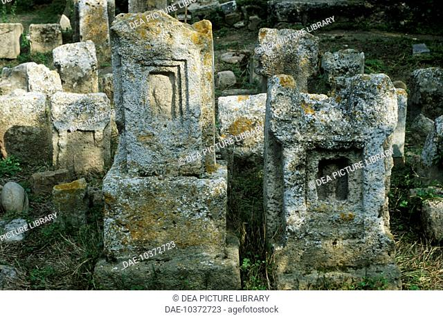 Tunisia - Carthage archaeological site (UNESCO World Heritage List, 1979). Phoenician-Punic tophet (sanctuary) of Baal Hammon and Tanit