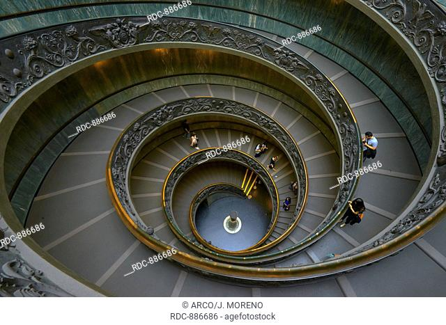 Vatican, Spiral stairs, Giuseppe Momo spiral staircase, Vatican Museums, Vatican City