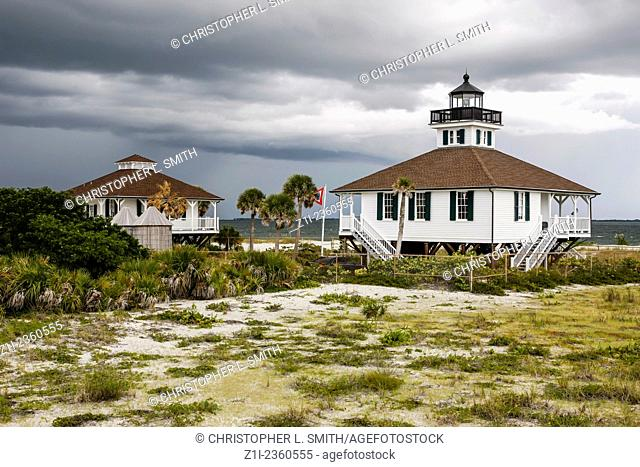 The Boca Grande Lighthouse at the end of Gasparilla Island FL