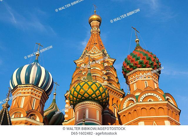 Russia, Moscow Oblast, Moscow, Red Square, Saint Basils Cathedral