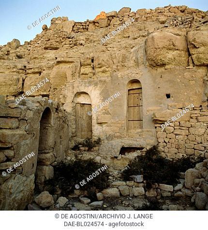 Ksar in the Berber village of Douiret, Tataouine Governorate, Tunisia