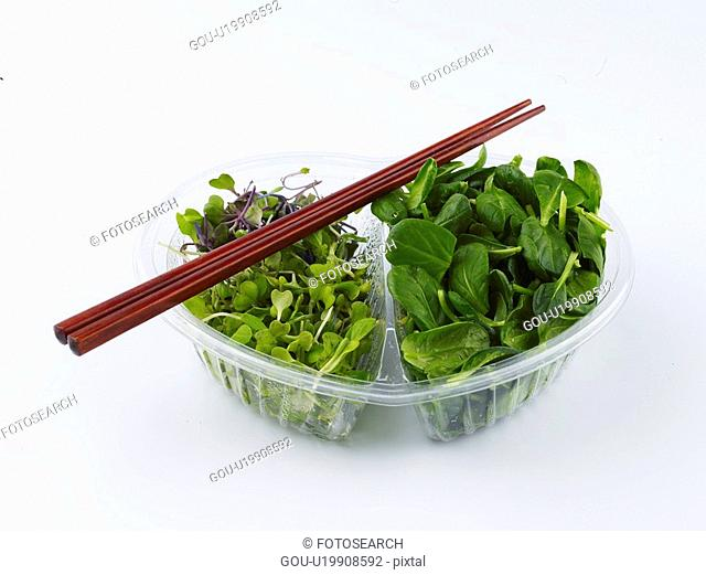 food material, chopstics, cuisine, food, vegetable, plastic container