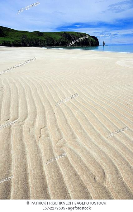 Sandy beach in Noth West of Scotland